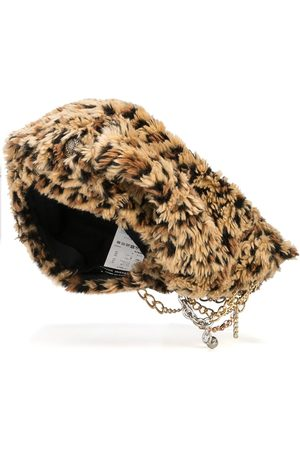 JUNYA WATANABE Leopard-print faux fur hat