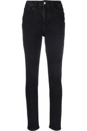 12 STOREEZ High-rise slim-fit jeans