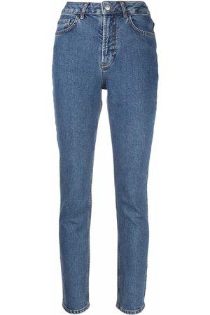 12 STOREEZ Mid-rise slim-cut jeans