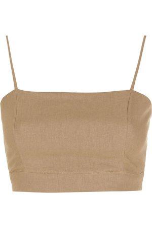 LUIZA BOTTO Eco-linen cropped top
