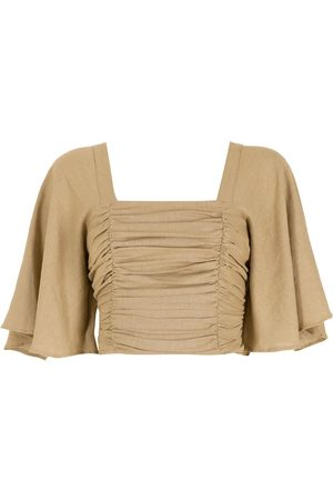LUIZA BOTTO Ženy Crop top - Ruched cropped top