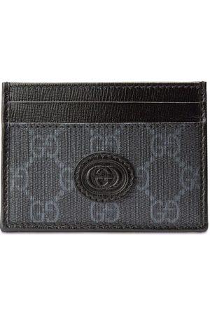 Gucci Muži Peněženky - GG-canvas logo-patch cardholder