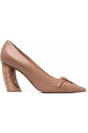 Angelo Figus Ženy Se zavřenou špičkou - Wooden heel pumps