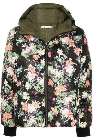 ALICE+OLIVIA Durham reversible floral puffer coat