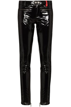 032c Punk patent-leather skinny trousers