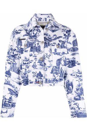 Philipp Plein Baroque print denim jacket