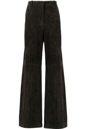 Joseph Wide-leg lambskin trousers