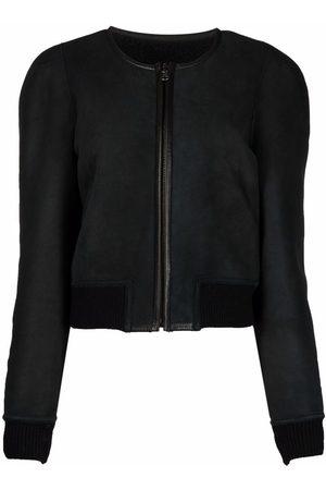 Isabel Marant Collarless wool bomber jacket