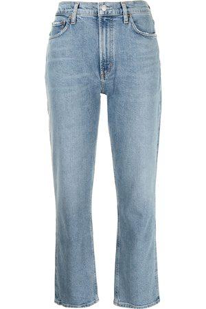 AGOLDE Straight-leg ankle-length jeans
