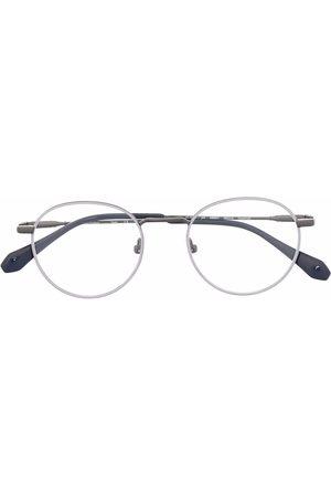 GIGI Sluneční brýle - Round-frame colour-block glasses