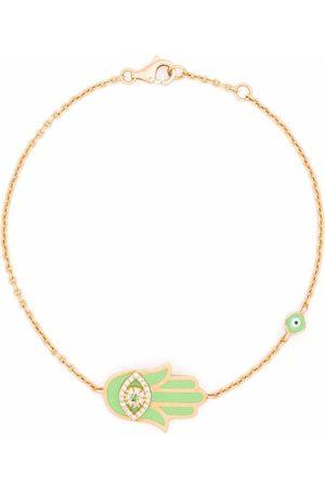 MONAN 18kt yellow gold enamel and diamond bracelet