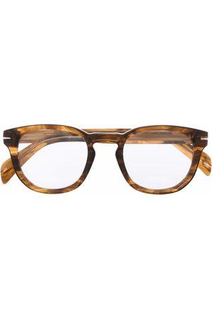 DB EYEWEAR BY DAVID BECKHAM Tortoiseshell-effect round glasses