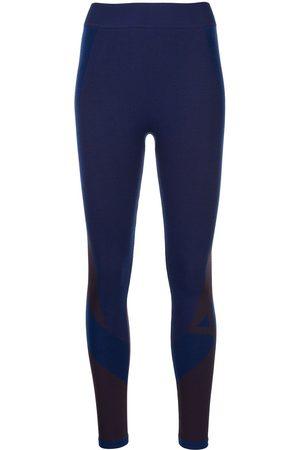 Y-3 Ženy Punčochy - Seamless colourblock-knit tights