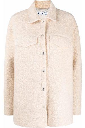 OFF-WHITE Ženy S dlouhým rukávem - Long-sleeve teddy overshirt