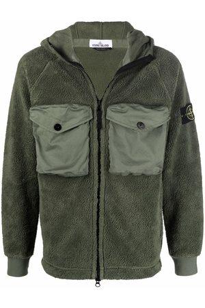Stone Island Muži Fleecové - Compass-patch hooded fleece jacket