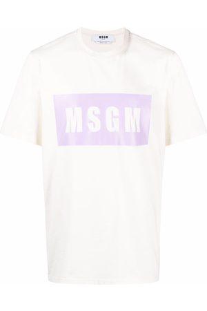 Msgm Muži S krátkým rukávem - Logo-print cotton T-Shirt