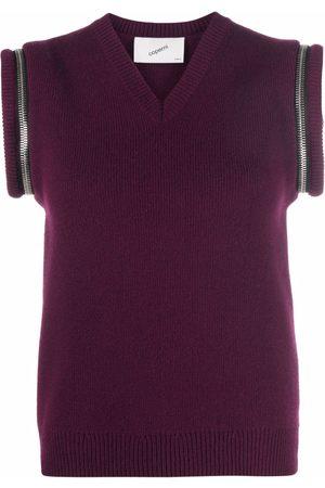 COPERNI Ženy Vesty - Zip-details wool vest