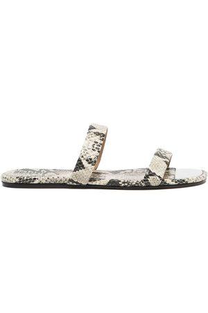 Schutz Snakeskin-print flat sandals