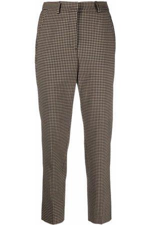 Incotex Check straight-leg trousers