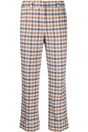 Incotex Check cropped trousers