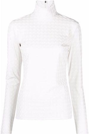 Msgm Ženy S dlouhým rukávem - Textured-finish T-shirt