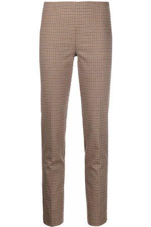 P.a.r.o.s.h. Ženy Rovné nohavice - Straight-leg checked trousers