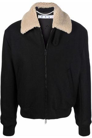 OFF-WHITE Contrast-collar aviator jacket