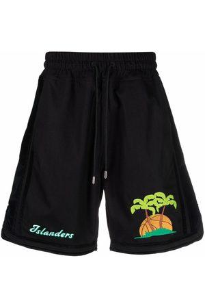 JUST DON Muži Kraťasy - Island print shorts