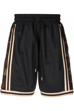 JUST DON Camo detail shorts
