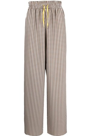 DUOltd Muži Rovné nohavice - Gingham-print trousers