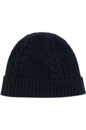 N.PEAL Čepice - Cable-knit organic-cashmere beanie