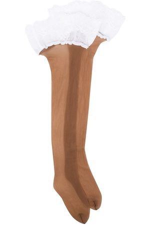 Wolford Lace-trim hold-up stockings