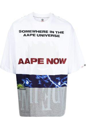 AAPE BY A BATHING APE Muži S krátkým rukávem - All-over graphic print T-shirt