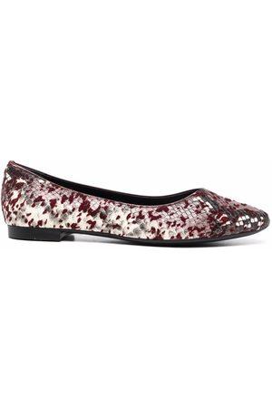 AGL ATTILIO GIUSTI LEOMBRUNI Ženy Baleríny - Snakeskin-effect leather ballerina shoes