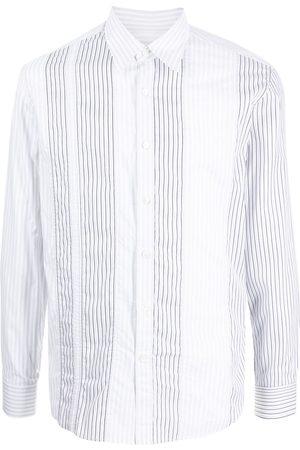 Salvatore Ferragamo Muži S dlouhým rukávem - Vertical-stripe long-sleeve shirt