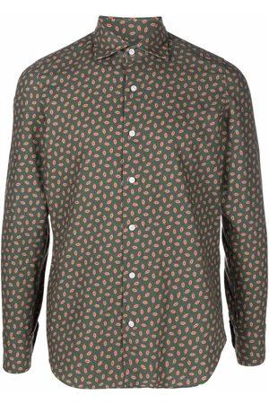 Finamore Paisley-print long-sleeve shirt