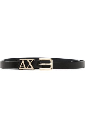 Armani Ženy Pásky - Logo-plaque leather belt