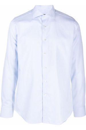 CANALI Muži S dlouhým rukávem - Plain long-sleeve shirt