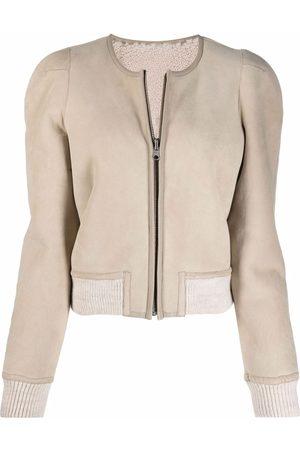 Isabel Marant Reversible shoulder-pads bomber jacket