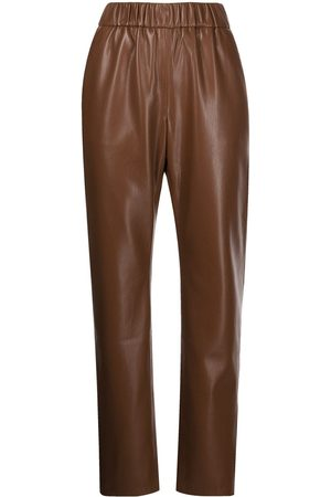 ANINE BING Colton faux leather trousers
