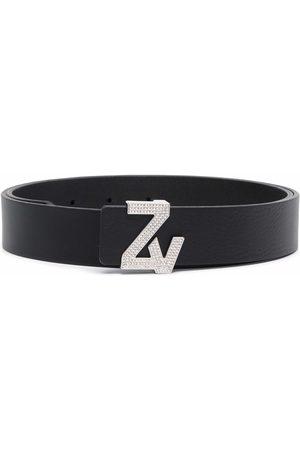 Zadig & Voltaire Logo-plaque leather belt