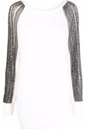 Missoni Ženy Pletené - Contrast-sleeve knitted dress
