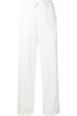 Tekla Drawstring-waist pajama trousers