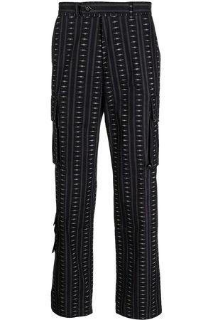 Phipps Muži Rovné nohavice - Motif-print straight-leg trousers