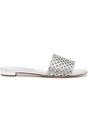 Aquazzura Ženy Bez podpadku - Crystal Candy flat sandals