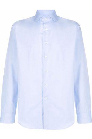 CANALI Muži S dlouhým rukávem - Long-sleeve cotton shirt
