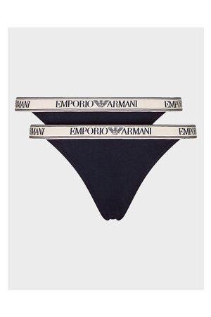 Emporio Armani Ženy Tanga - Sada 2 kusů string kalhotek