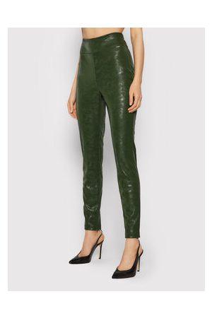 Guess Ženy Kožené kalhoty - Kalhoty z imitace kůže