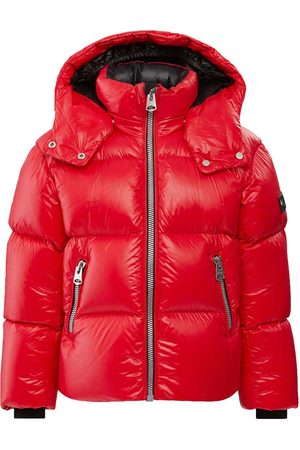 Mackage Venkovní - Jesse Lustrous Light Down Jacket with Hood in Red