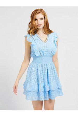 Guess Ženy Šaty - Dámské modré šaty